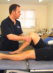 Physiotherapy treatment on knee